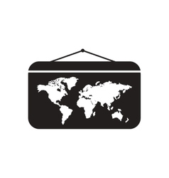 Flat icon in black and white portugal map vector image flat icon in black and white world map vector image vector image gumiabroncs Choice Image