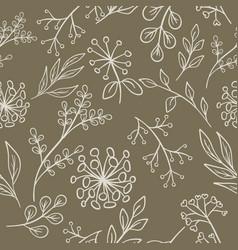 Floral pattern grange seamless vector