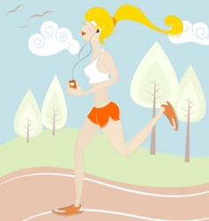girl running vector image