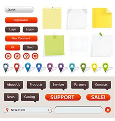 GPS Navigation And Website Elements vector image vector image