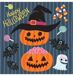 Happy Halloween set vector image