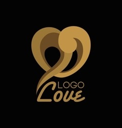 Heart shape logo design template vector image
