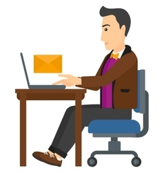 Man receiving email vector image vector image