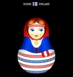 Matryoshka finish girl vector image