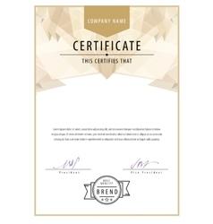 Modern certificate template diplomas currency vector