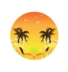Palm Tree Sunset vector image