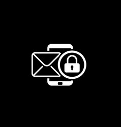 privacy protection icon flat design vector image vector image