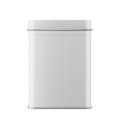 Rectangular glossy tin can template vector