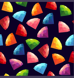 seamless texture with gems vector image vector image