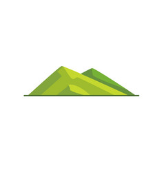 Sloping hills icon in flat style vector
