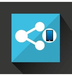 Smartphone share social network media icon vector
