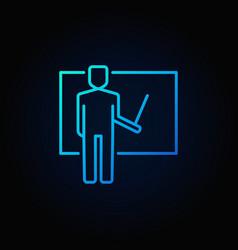 teacher blue icon vector image