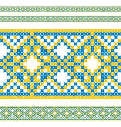 ukrainian pattern 06 vector image vector image