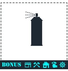 Spray icon flat vector image