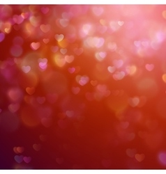Bokeh background with hearts eps 10 vector