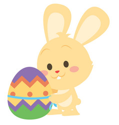 Collection of yellow bunny easter design vector