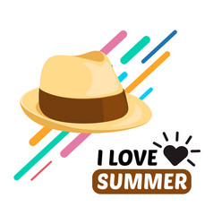 summer men hat and text vector image