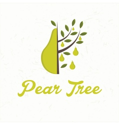 Pear tree with pear fruit vector