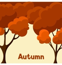 Autumn background design with abstract stylized vector