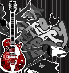 guitar party vector image