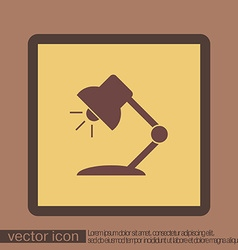 Table lamp symbol office or school vector