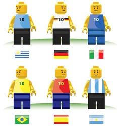 football toys vector image