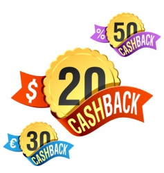 Cash back emblem vector