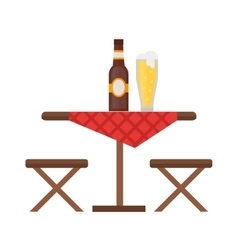 Camping table and chair set vector