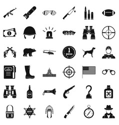 Bullet icons set simple style vector