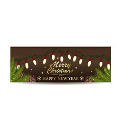 Christmassy banner for christmas and new year vector