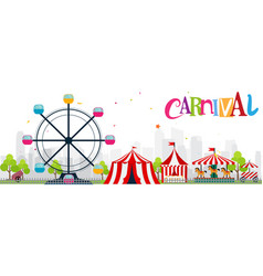 Colorful funfair and carnival background vector