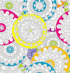 Doodle floral background vector image vector image