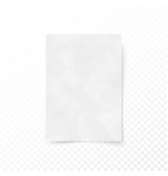 Empty paper letter white sheet template paper and vector