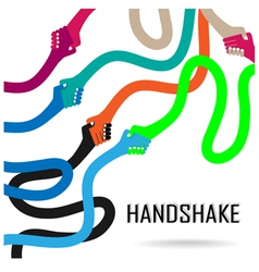 Handshake abstract sign vector image vector image