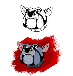head of dog vector image vector image