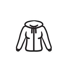 hoodie sketch icon vector image vector image