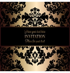 Invitation decorative golds 11 vector