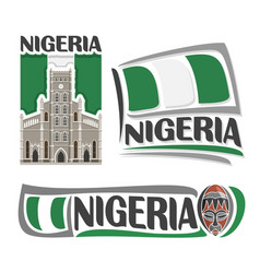logo for nigeria vector image