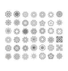 mandala patterns set round ornament vector image vector image