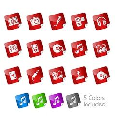 Media Entertainment Stickers vector image