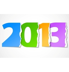 New year 2013 torn paper vector image