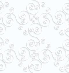 Quilling paper diagonal spirals flourish vector image vector image