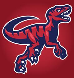 raptor mascot vector image