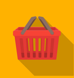 Shopping busket icon in flat style isolated on vector