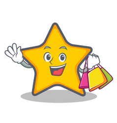 Shopping star character cartoon style vector