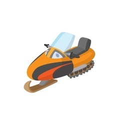 Snowmobile icon cartoon style vector