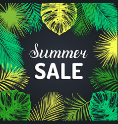 Summer sale background discount card with vector