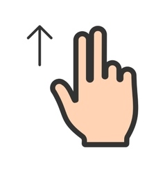 Two fingers up vector