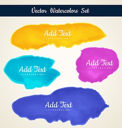 Watercolor stain set vector