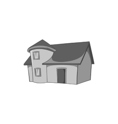 Residential house with roof icon vector